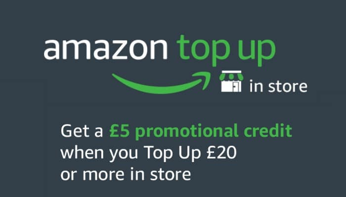 Amazon Top Up is an alternative way to pay using gift cards at Amazon. For a limited time only you can get a £5 free Amazon gift card when you Top Up.
