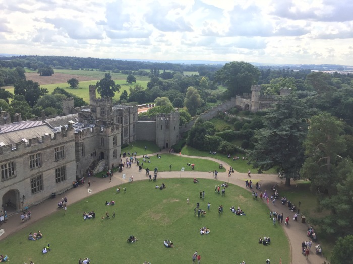 View from the top of Warwick Castle