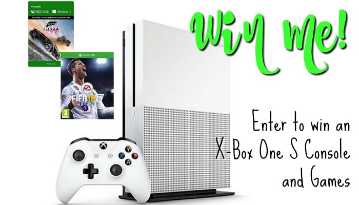 One lucky winner has the chance to win an X-Box One S Console bundled with Forza Horizon 3 and FIFA 18. Good luck!!