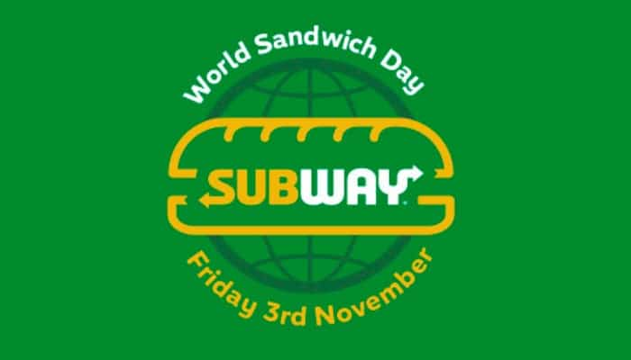We certainly love a freebie and we love sandwiches as well. So we double love that Subway are giving away free 6-inch subs!