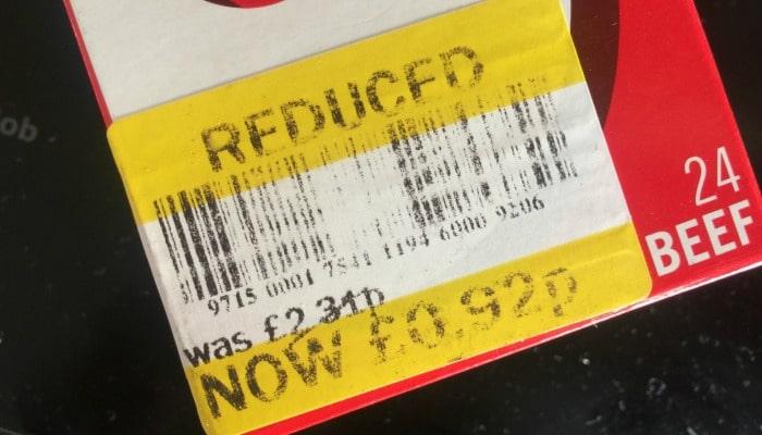 yellow reduced sticker