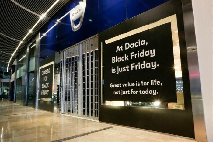 Dacia closed for Black Friday