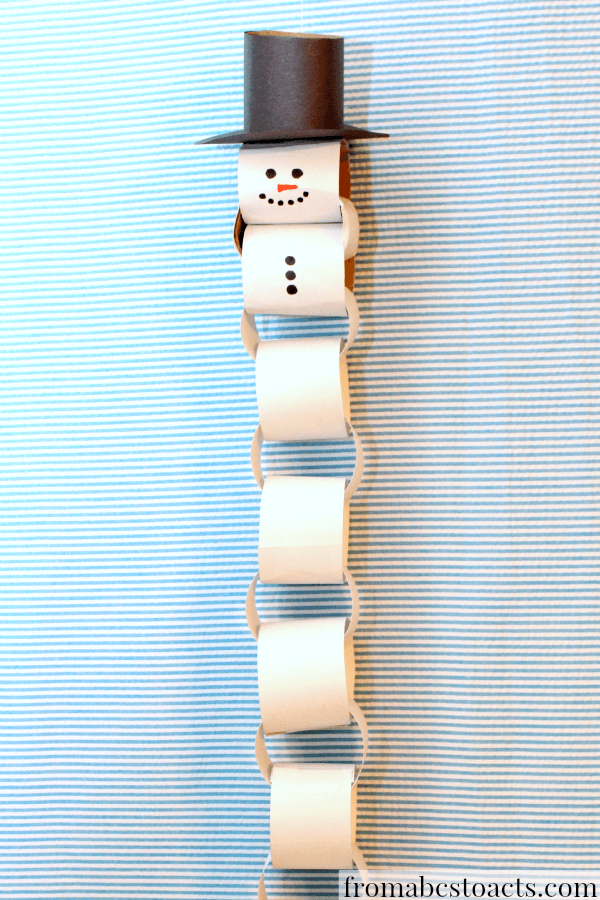 If you're not a big fan of daily chocolate, or maybe you just want another way to use up toilet roll then this advent is perfect. Just made sure to take a loop off each day and watch the snowman get smaller.
