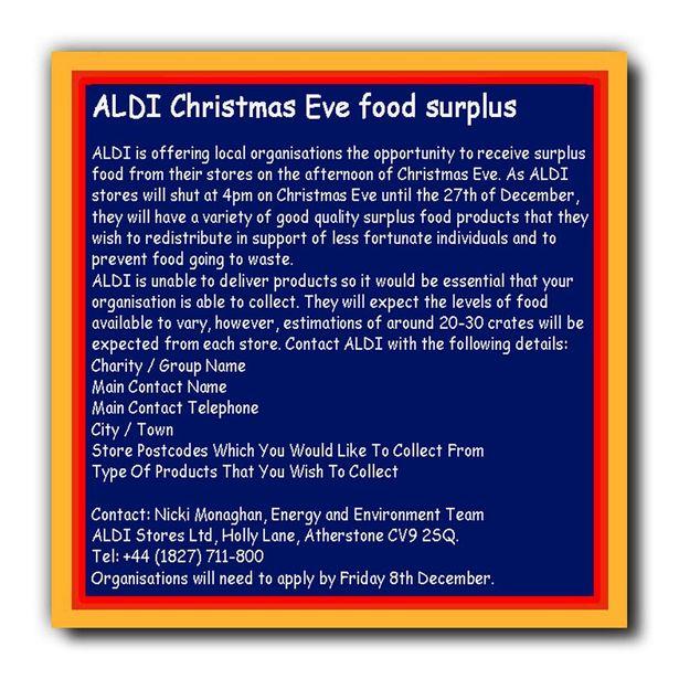 Aldi food donation details