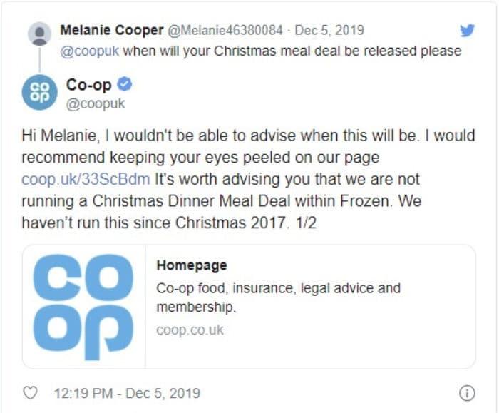coop christmas meal deal 2019