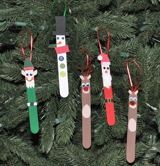 Popsicle Christmas tree decoration
