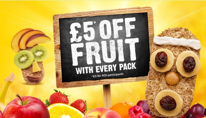 £5 free fruit with packs of Weetabix