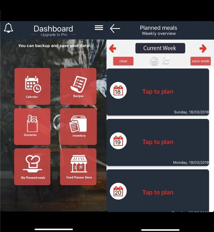 FoodPlanner meal planner app