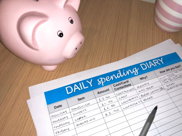 Spending diary template