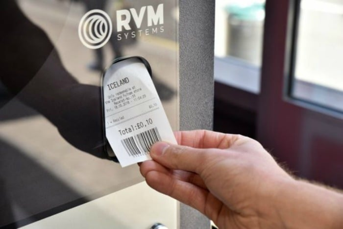 10p voucher from Iceland reverse vending machine