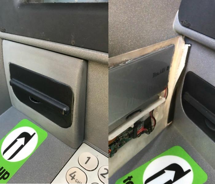 ATM fraudulent panel