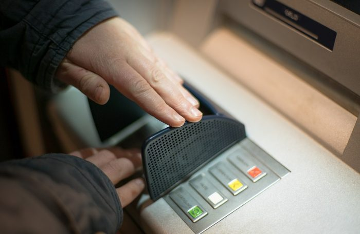 ATM pin cover