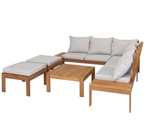 Argos wooden garden furniture set