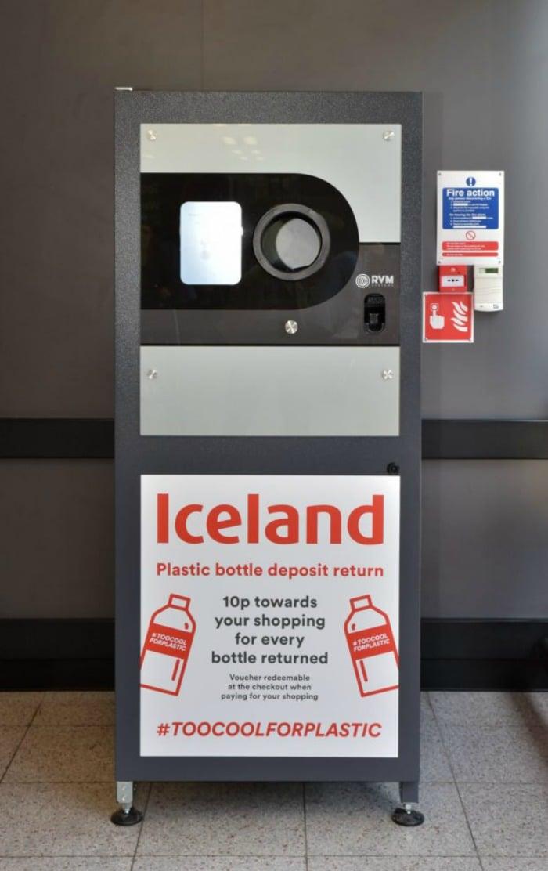 Iceland reverse vending machine