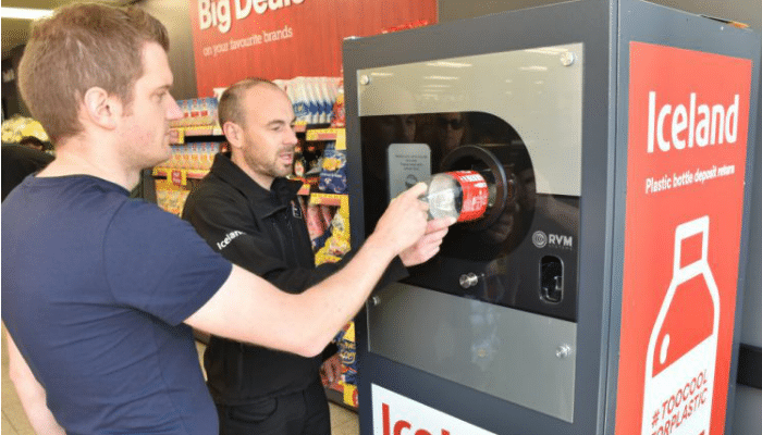 Recycle Plastic Bottles with a Reverse Vending Machine