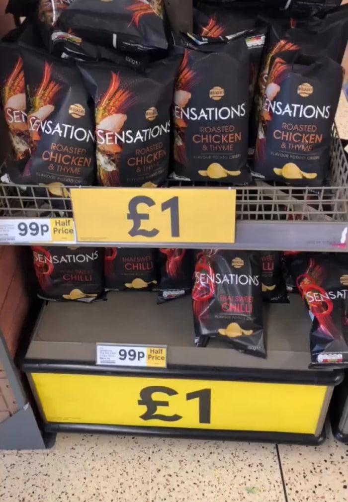 Sensations half price at Tesco