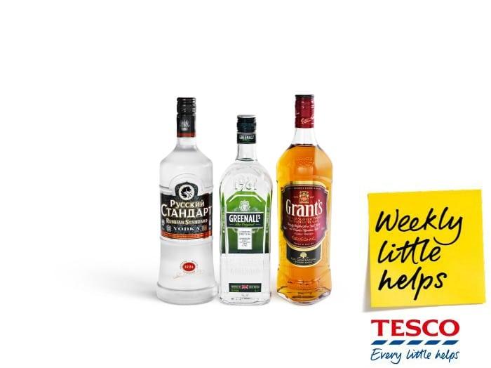 Tesco Spirits on offer