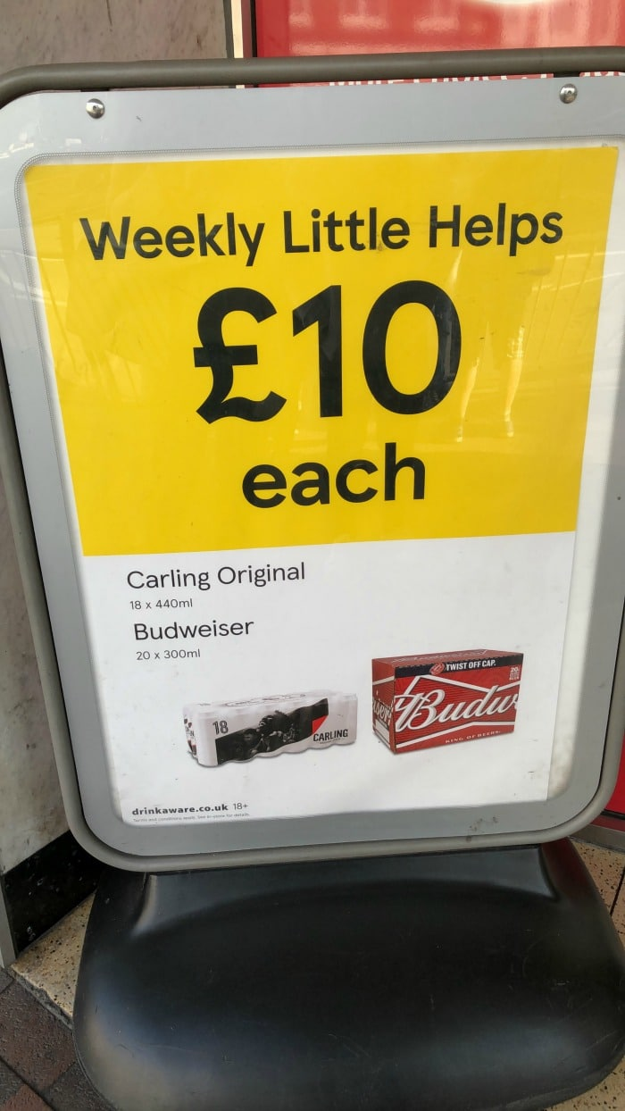 Tesco Weekly Little Helps Lager offer
