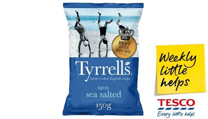 Tyrrells crisps on offer at Tesco