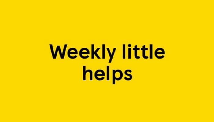 Weekly Little Helps at Tesco