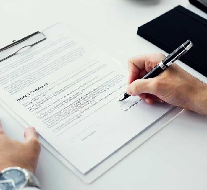 contract terms and conditions