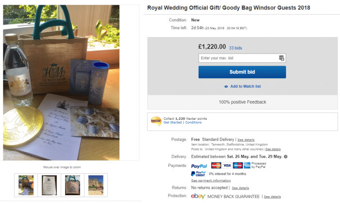 ebay wedding bag