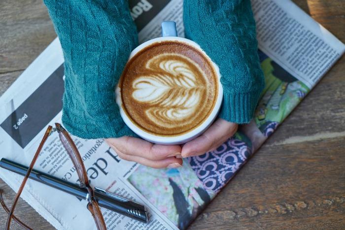 newspaper coffee