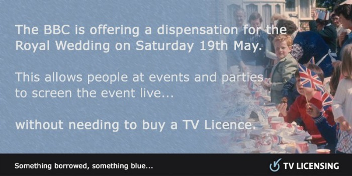 tv licence fee waived
