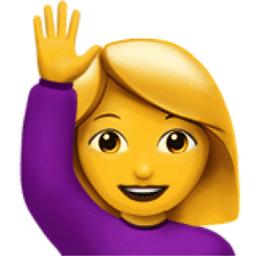 hand up emoji