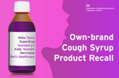 own brand cough syrup product recall
