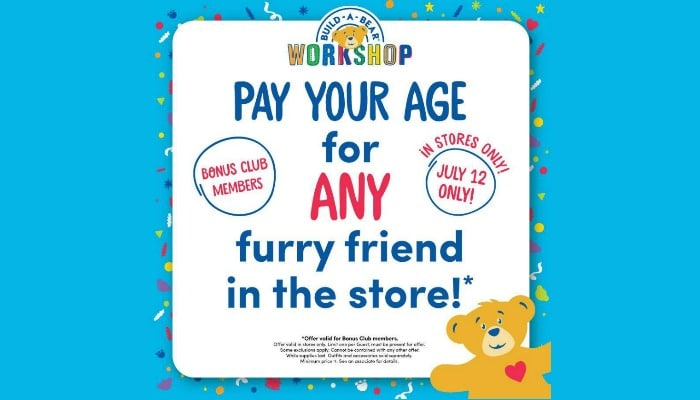 build a bear pay your age day