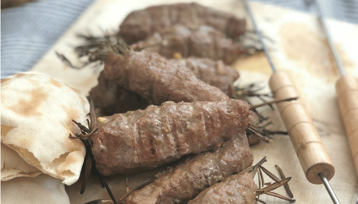 BBQ lamb koftas