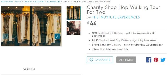 charity shop tour