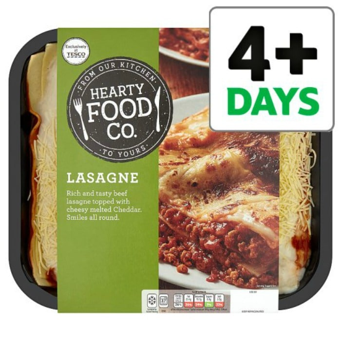 Hearty Food Co Lasagne