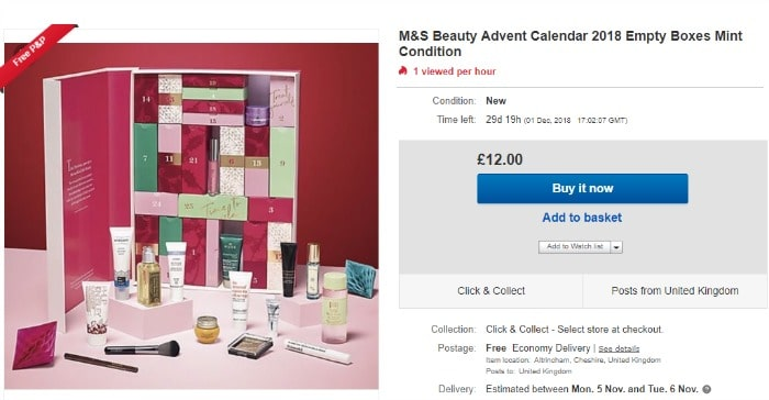 beauty advent calendar resale