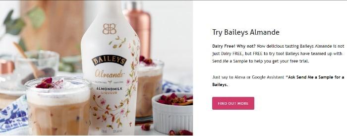 free sample baileys