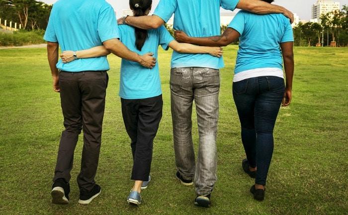 team walking