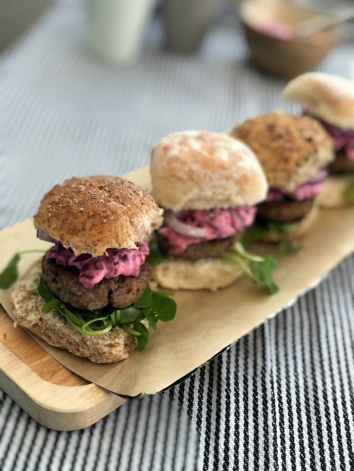 lamb slider burgers
