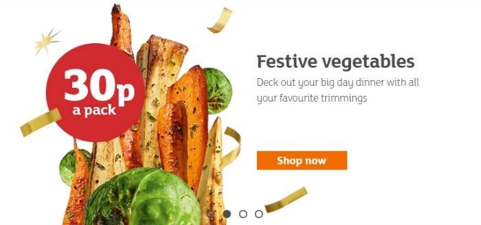 sainsburys christmas veg