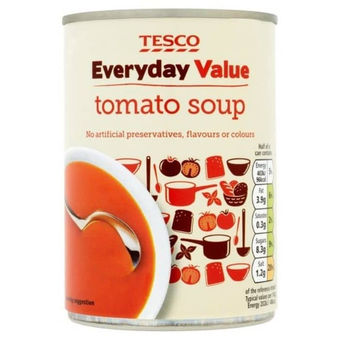 tesco everyday value soup