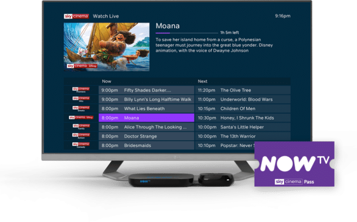 Sky Movies for free on NOW TV