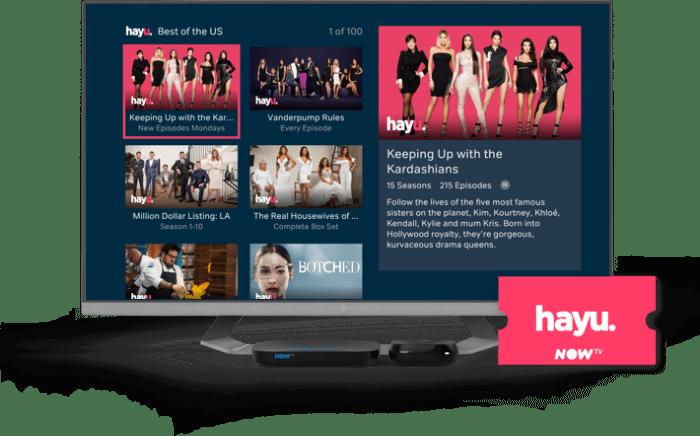 free now tv hayu