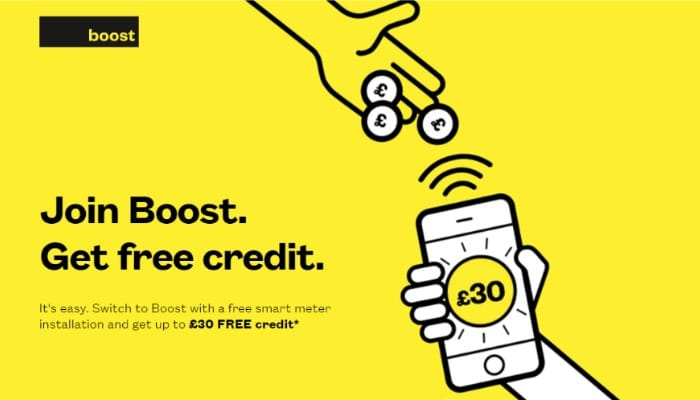 Boost Energy free credit