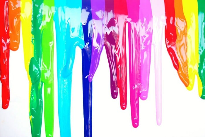 colourful paint dripping