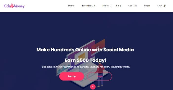 kids make money website scam