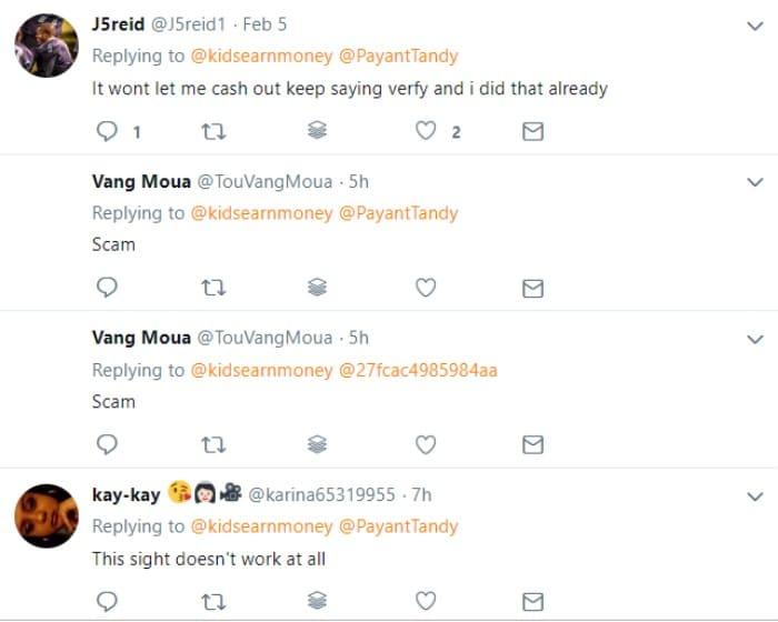 kidsearnmoney scam twitter