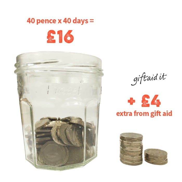 40p for 40 days