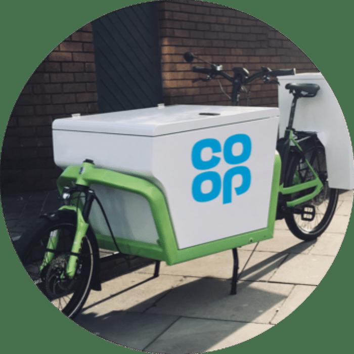 co-op food delivery bike