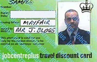 jobcentre plus travel discount card