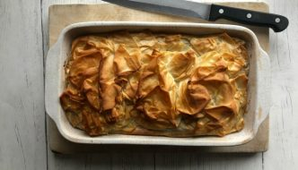 This quick Moroccan style lamb filo pie recipe makes an easy midweek meal. Using minced lamb, it's tasty as well as easy on your food budget.